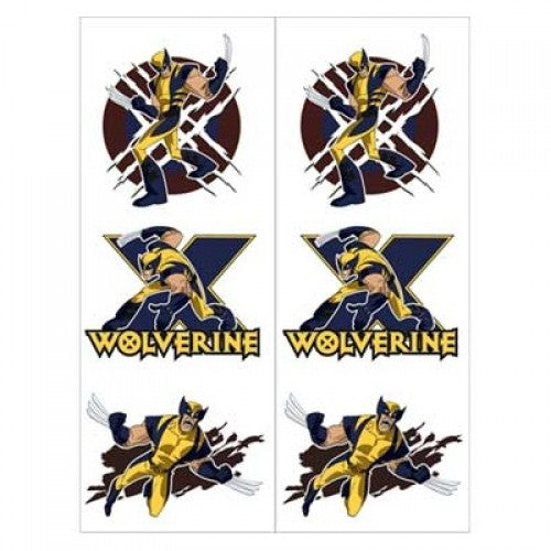Wolverine And The X-Men Temporary Tattoos