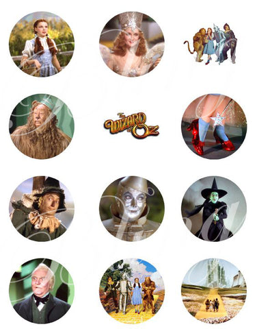 The Wizard of Oz Edible Icing Sheet Cupcake Decor Toppers - WOZ3