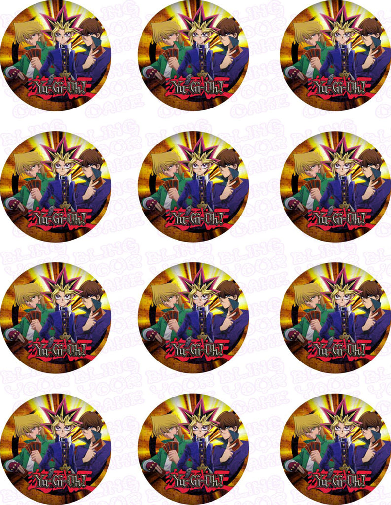 Yu-Gi-Oh Edible Icing Cupcake or Cookie Decor Toppers - YGO1