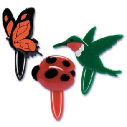 Spring Friends (Ladybug, Butterfly & Bird) Bookmark Cupcake Picks