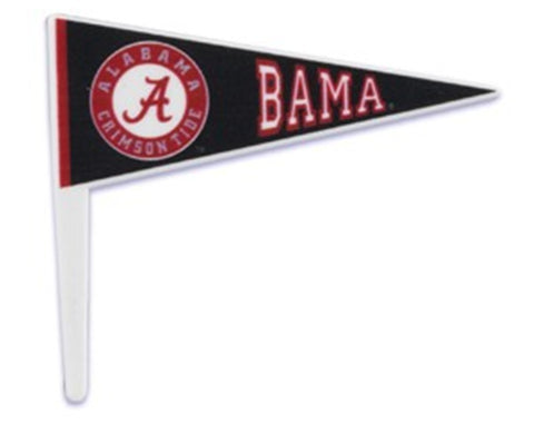 12 University of Alabama Crimson Tide Pennant Cupcake Picks