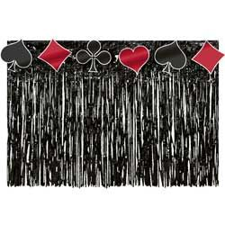 Card Playing Fun Fringed Table Skirt