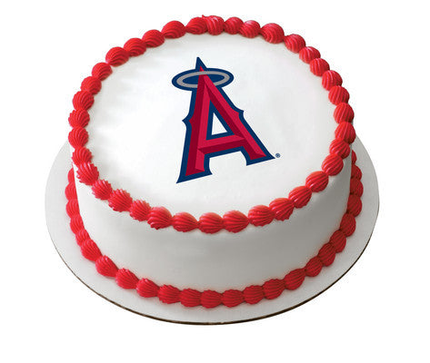 MLB Anaheim Angels Logo Edible Icing Sheet Cake Decor Topper