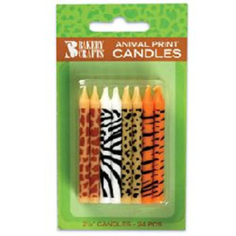 Animal Safari Print (Zebra, Leopard, Tiger & Giraffe) Candles