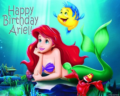 Ariel the Little Mermaid Edible Icing Sheet Cake Decor Topper - ALM1