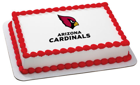 NFL Arizona Cardinals Edible Icing Sheet Cake Decor Topper