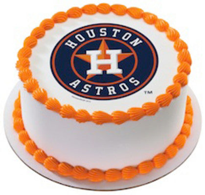 MLB Houston Astros Edible Icing Sheet Cake Decor Topper