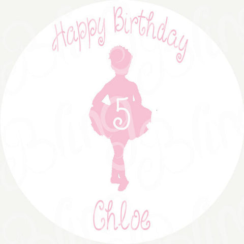 Ballerina Edible Icing Sheet Cake Decor Topper - BD1