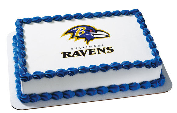 NFL Baltimore Ravens Edible Icing Sheet Cake Decor Topper