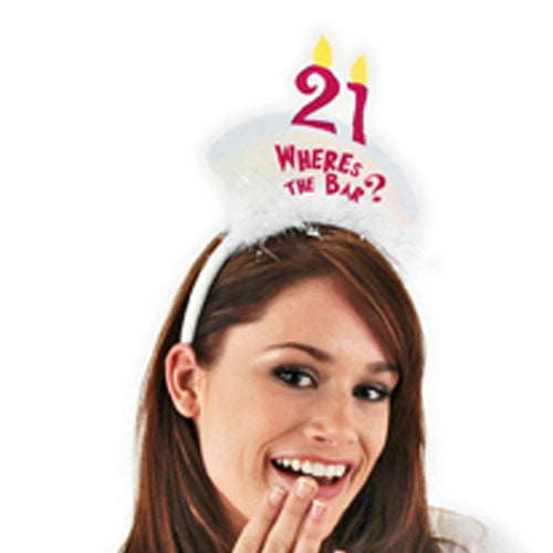 Where's the bar? 21st Birthday Party Headband by Elope