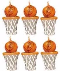 Basketball & Hoops Party Candles