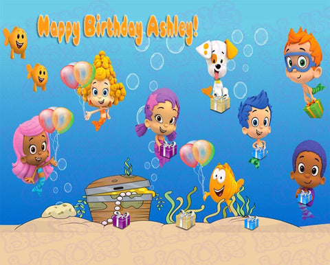 Bubble Guppies Edible Icing Sheet Cake Decor Topper - BG1