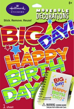The Big Day Moveable Decorations Stickers