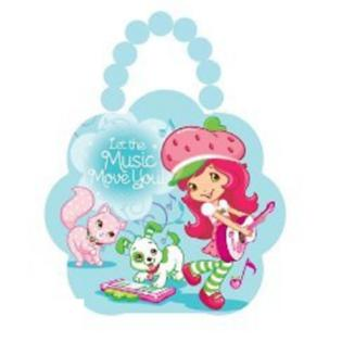 Strawberry Shortcake Tin Box Carry All Flower Purse with Beaded Handle - Let the Music Move You