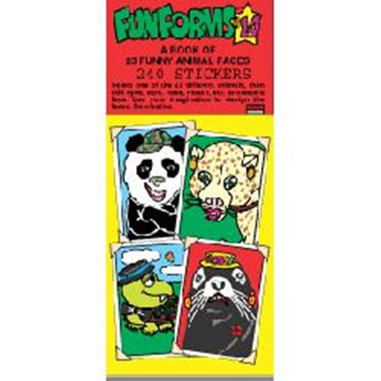 Funny Animals Funforms Sticker Book 14