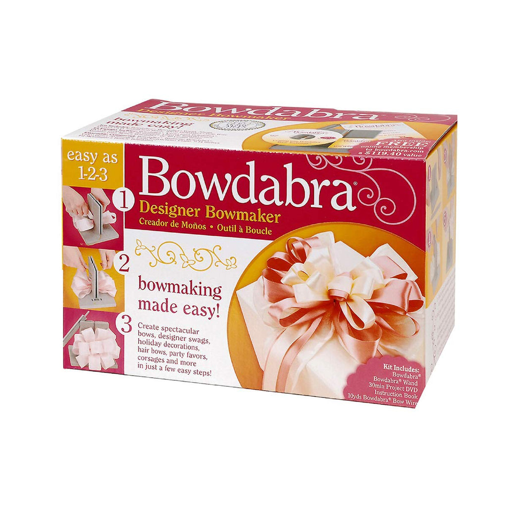 Darice Bowdabra Bow Maker and Craft Tool, Gray