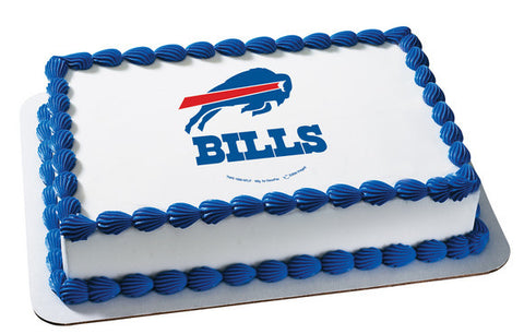 NFL Buffalo Bills Edible Icing Sheet Cake Decor Topper