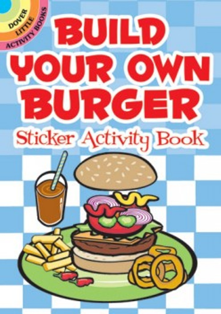 Build Your Own Burger Sticker Little Activity Book