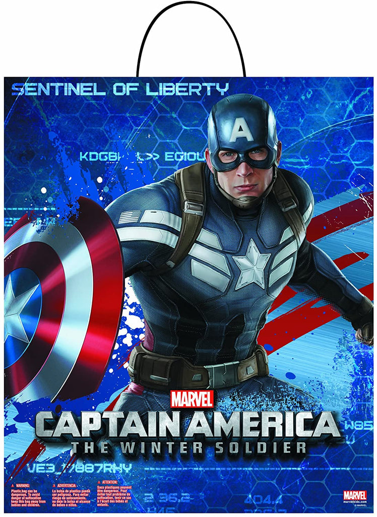 Marvel Captain America The Winter Soldier Movie 2 Treat Bag Halloween Candy Trick or Treat Bag