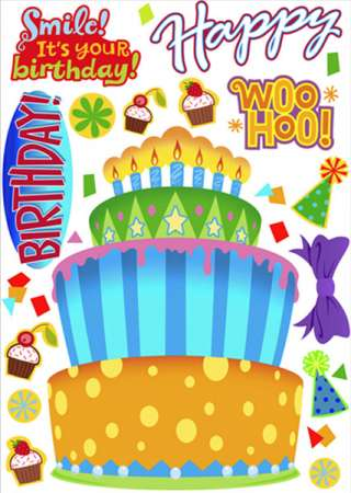Build Your Own Cake Large Moveable Decorations Stickers
