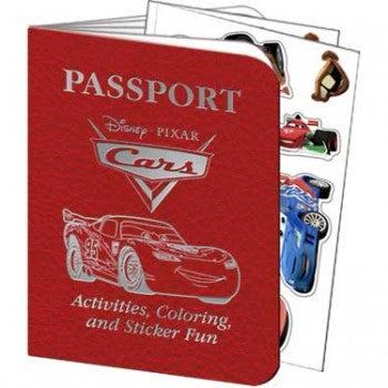 Disney Cars 2 Passport Sticker Books
