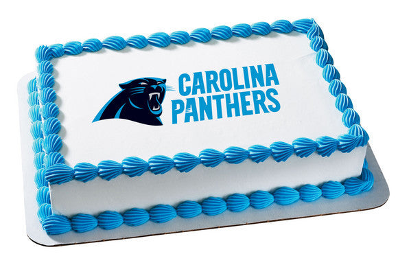 NFL Carolina Panthers Edible Icing Sheet Cake Decor Topper