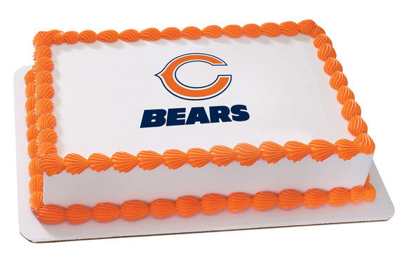 NFL Chicago Bears Edible Icing Sheet Cake Decor Topper