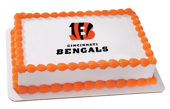 NFL Cincinnati Bengals Edible Icing Sheet Cake Decor Topper