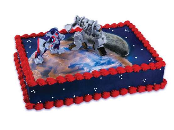 Transformers Optimus Prime And Megatron Cake Topper