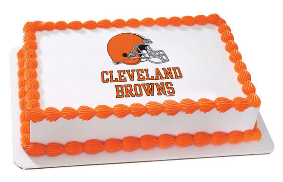 NFL Cleveland Browns Edible Icing Sheet Cake Decor Topper