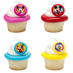 24 Mickey Mouse Clubhouse Cupcake Topper Rings