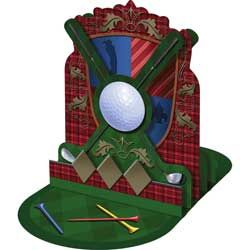 Tee Time Golf Centerpiece