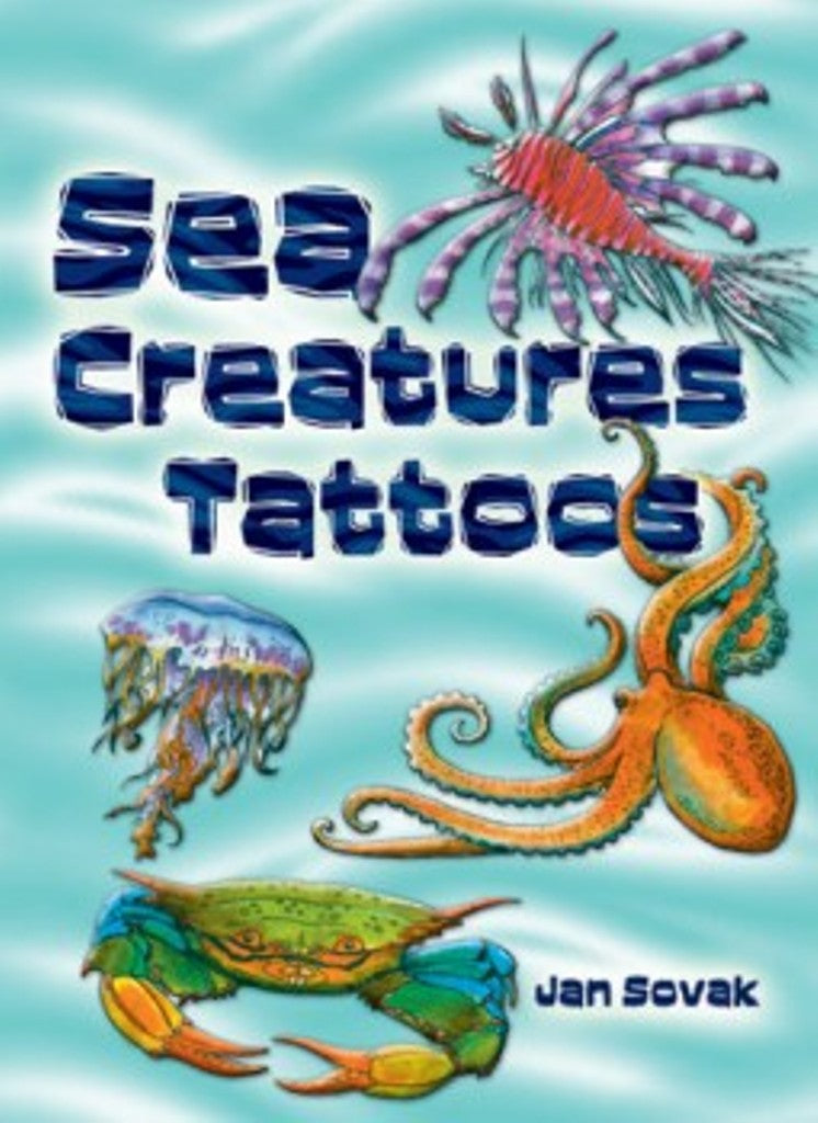 Sea Creatures Tattoos Little Activity Book