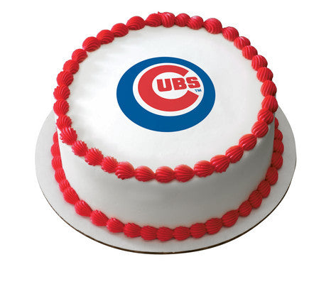 MLB Chicago Cubs Edible Icing Sheet Cake Decor Topper