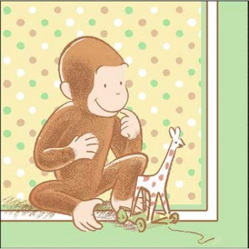 Curious George Cute and Curious Baby Luncheon Napkins