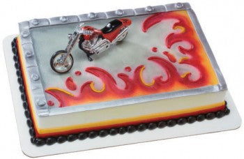 Red Hot Chopper Motorcycale Cake Topper