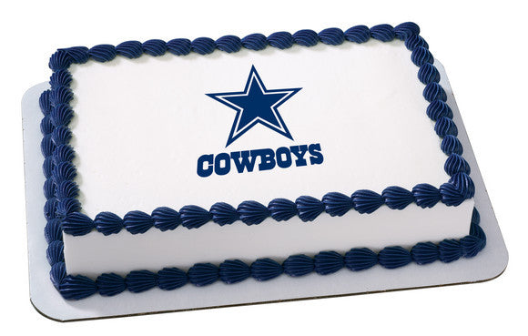 NFL Dallas Cowboys Edible Icing Sheet Cake Decor Topper
