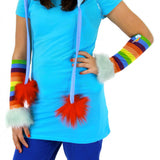 My Little Pony Rainbow Dash Costume Glovettes by Elope