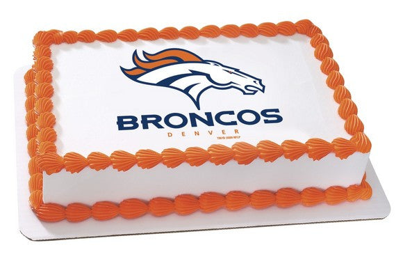 NFL Denver Broncos Edible Icing Sheet Cake Decor Topper