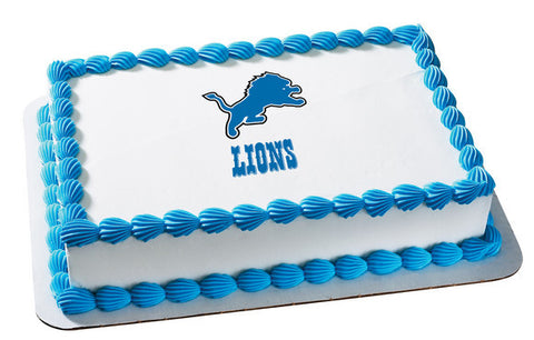 NFL Detroit Lions Edible Icing Sheet Cake Decor Topper