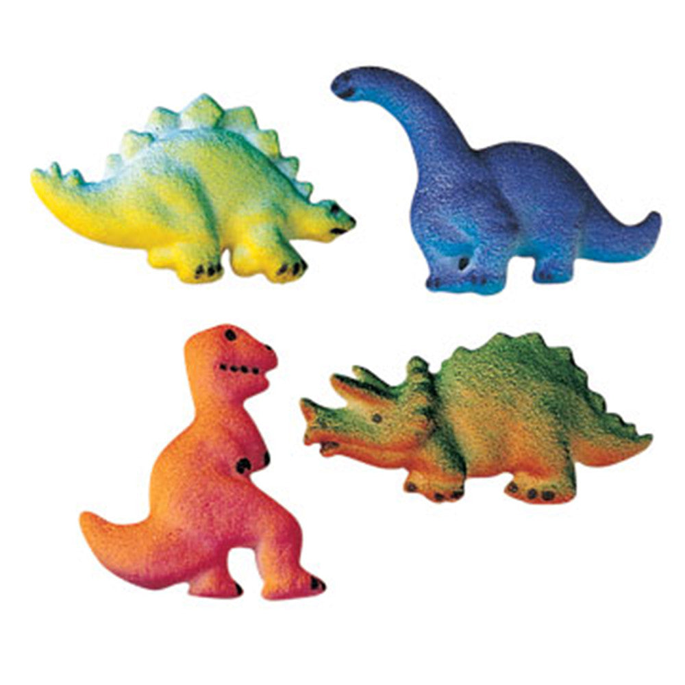 4 Dinosaur Edible Sugar Cake Decorations