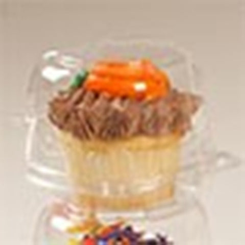 Single Cupcake Clear Dome Containers