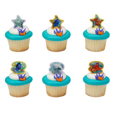 24  Finding Dory Adventure is Brewing Cupcake Topper Rings