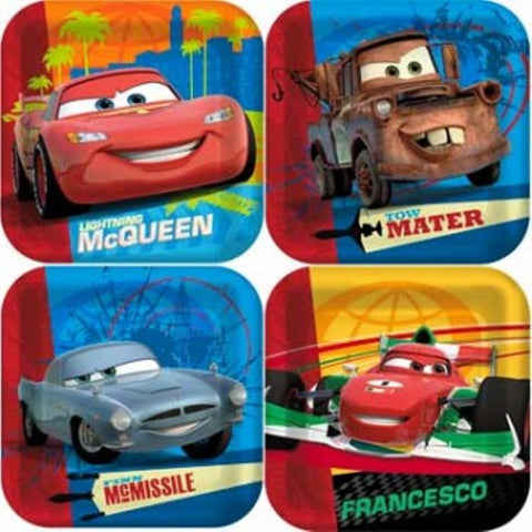 Disney Cars 2 Square Dessert Plates