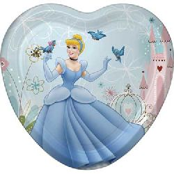 Cinderella Dreamland Party Heart Shaped Dinner Plates