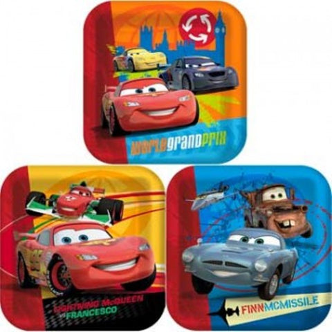 Disney Cars 2 Square Dinner Plates