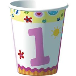 Lil Girl First Birthday Party Birthday Cups.
