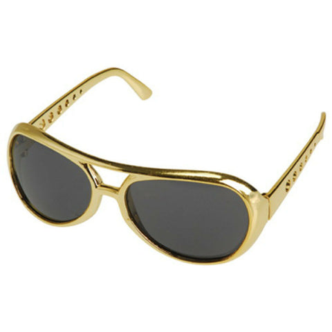 Gold Elvis Glasses by Rubies