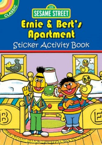 Sesame Street Classic Ernie & Bert's Apartment Sticker Little Activity Book
