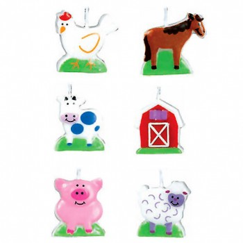 Barnyard Fun Birthday Candle Set